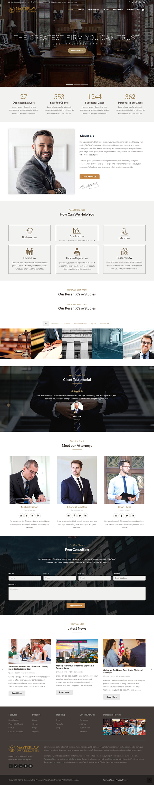 Masterlaw – Lawyers & Law Firm Theme