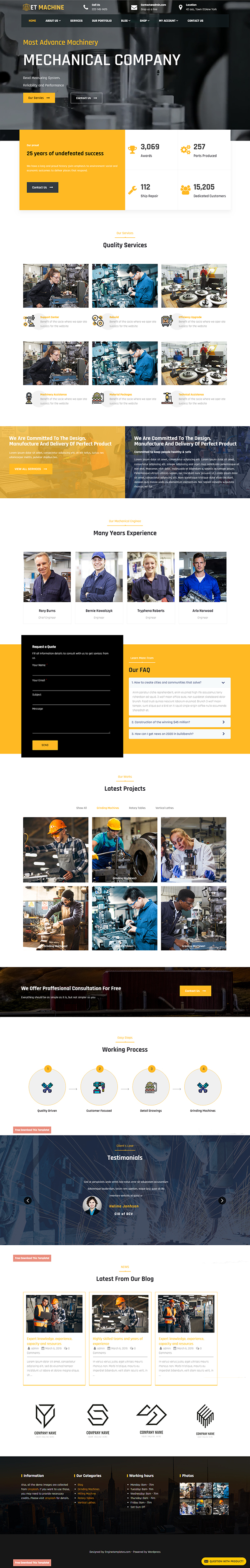 ET Machine Industrial WordPress
