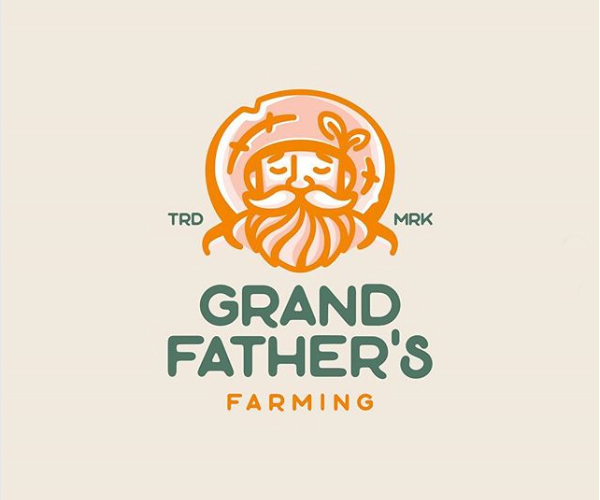 Grand Father's Farming Logo Desgin