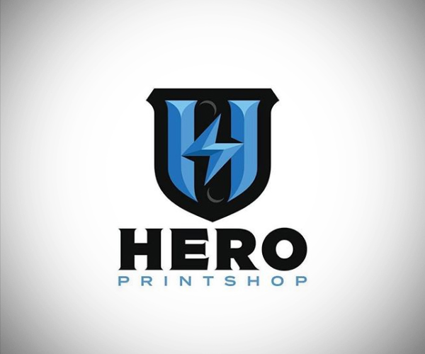 Hero Printshop Logo Design