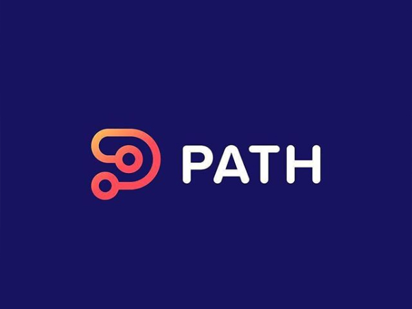 Letter P + Path Logo Design