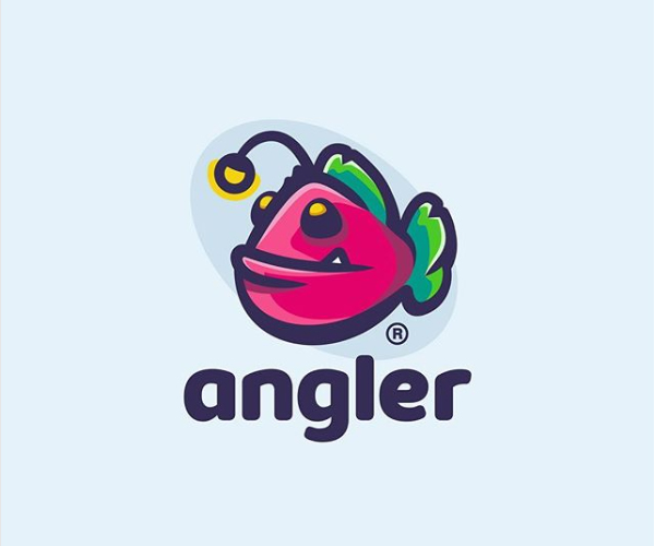 Angler Fish Logo Design