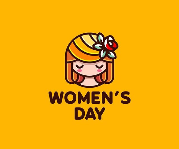 Happy Women's Day Logo Design