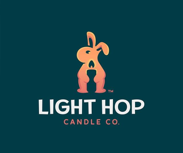 LightHop Candle Company Logo Design
