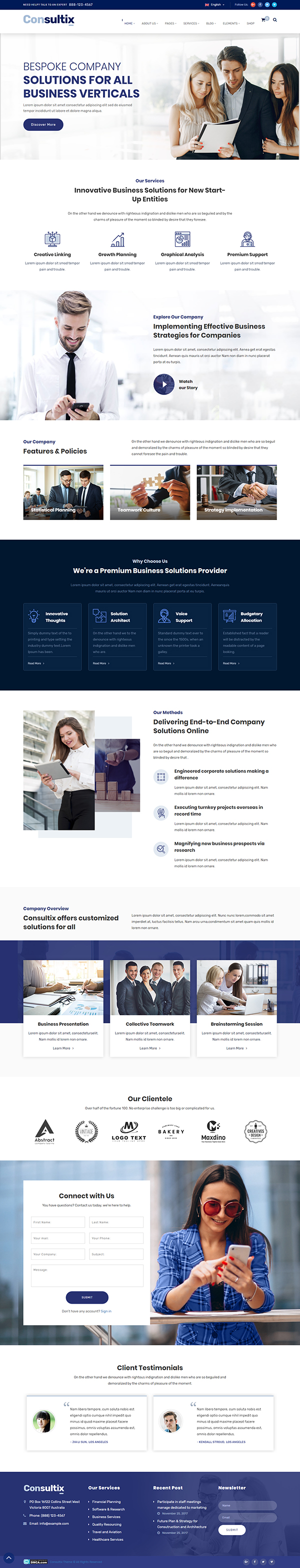 Consultix - Business Consulting WordPress Theme