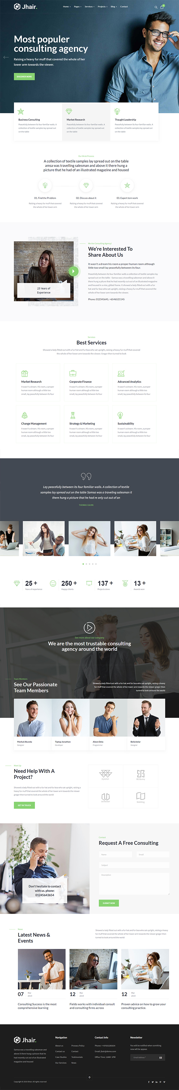 Jhair - Business, Consulting WordPress Theme