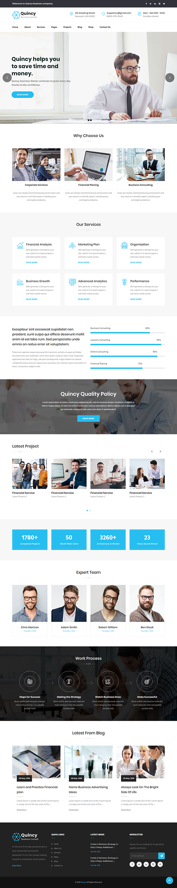 Quincy - Consulting WordPress Theme