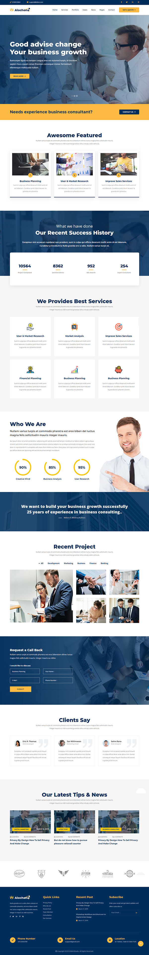 Alochona - Business Consulting WordPress Theme
