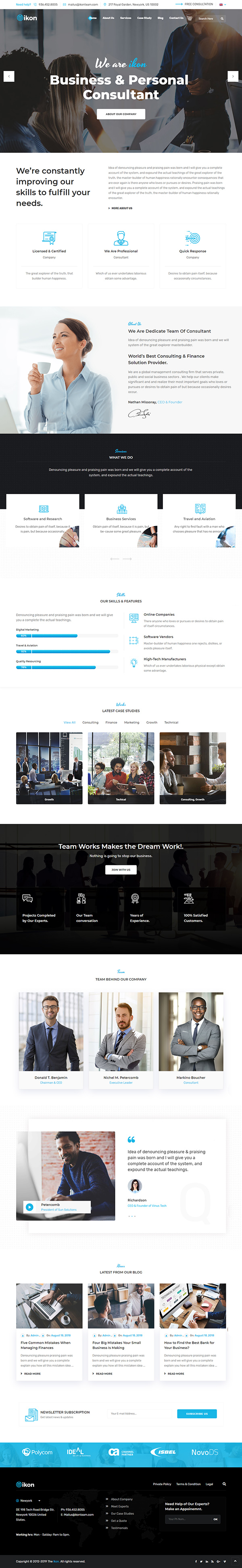 Ikon - Consulting Business, Finance WordPress Theme