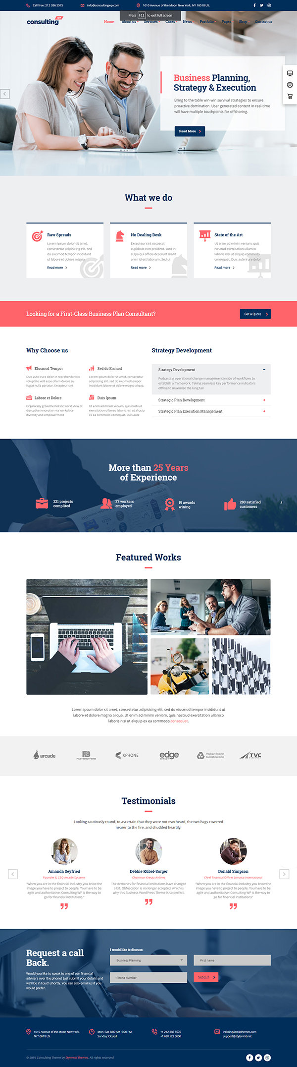 Consulting - Business, Finance WordPress Theme