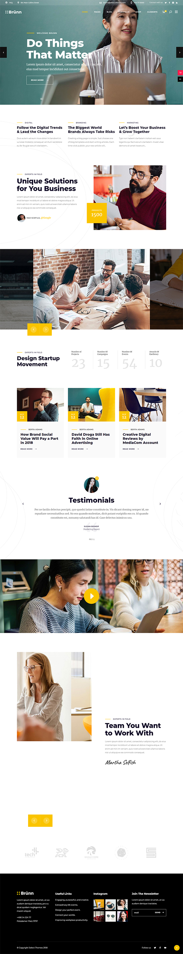 Brno - creative agency theme
