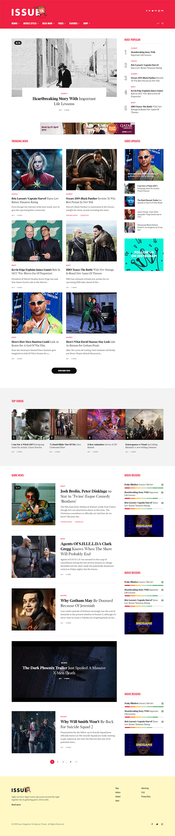 The Issue - Versatile Magazine Theme
