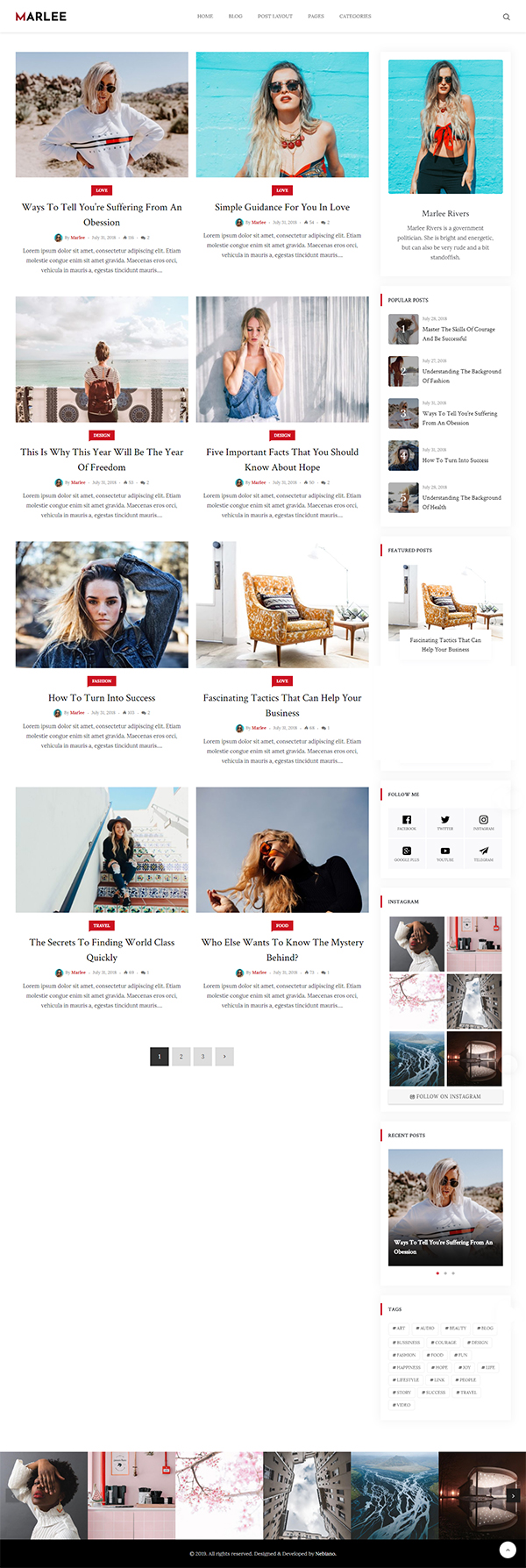 Marlee - Personal WordPress Blog Theme