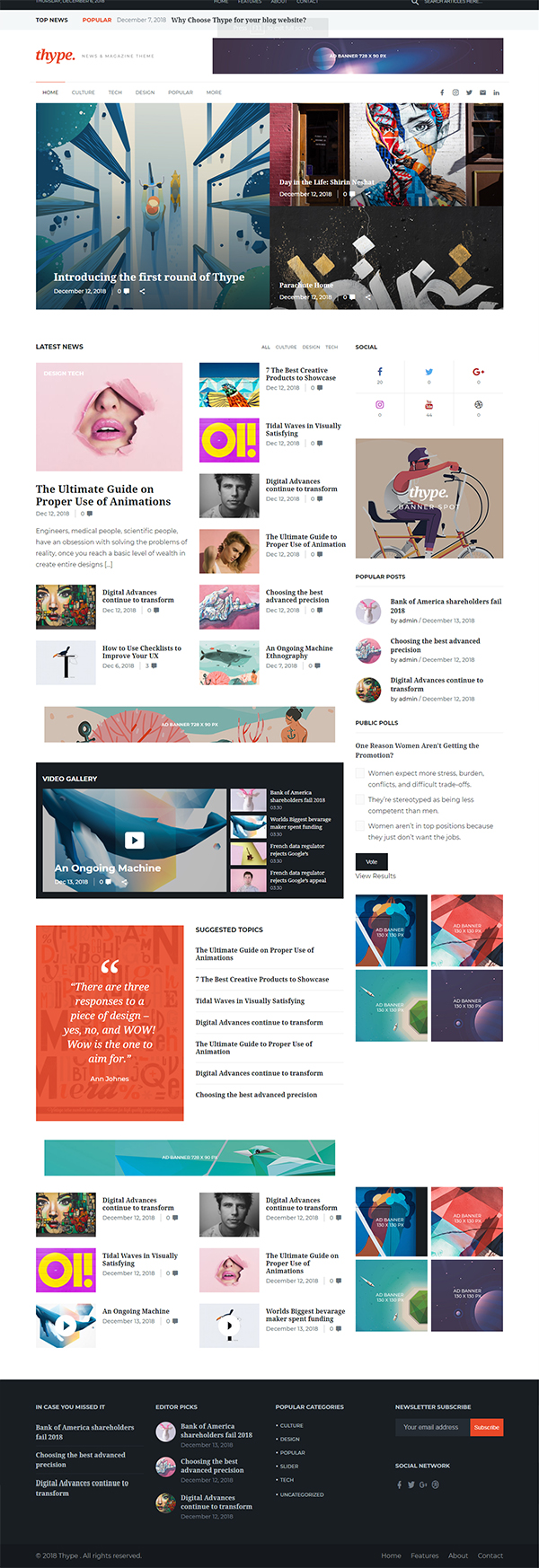 Thype | Multi-Concept Blog & Magazine WordPress Theme