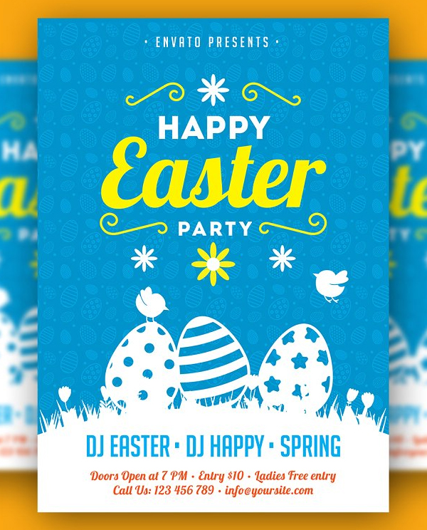 Happy Easter Party Flyer
