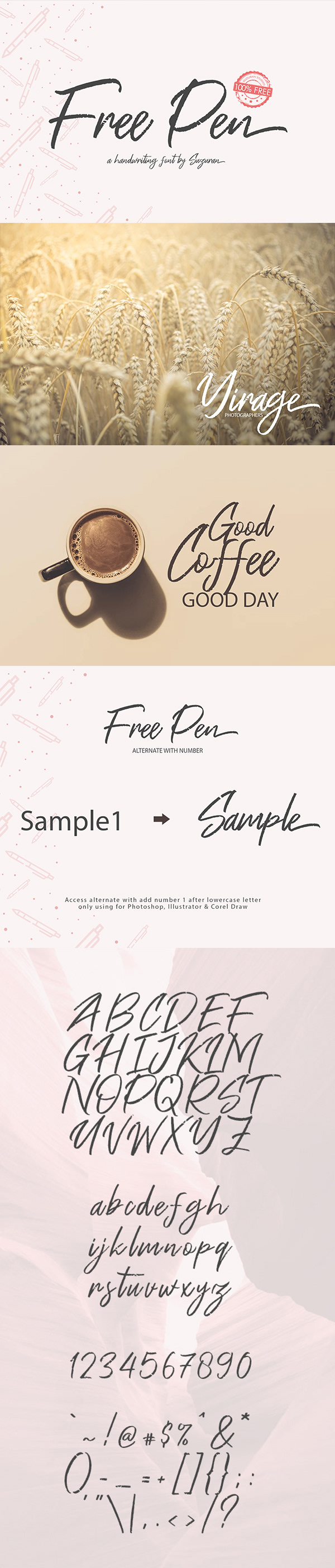 Pen Handwriting Free Font