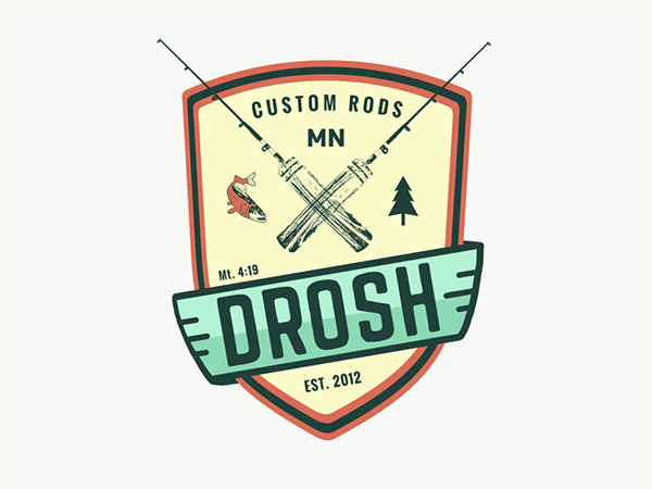 Custom Fishing Logo Design