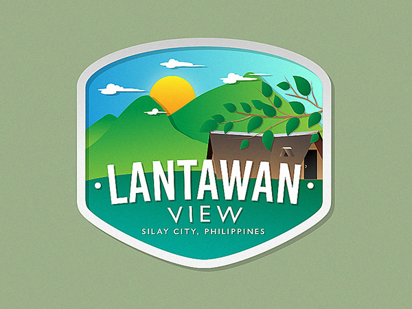 Lantawan View Badge Logo Design