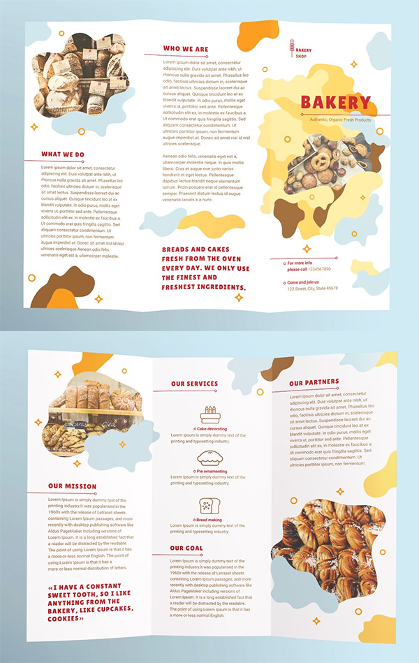 Bakery Brochure Trifold