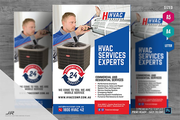 Heating and Cooling Services Flyer
