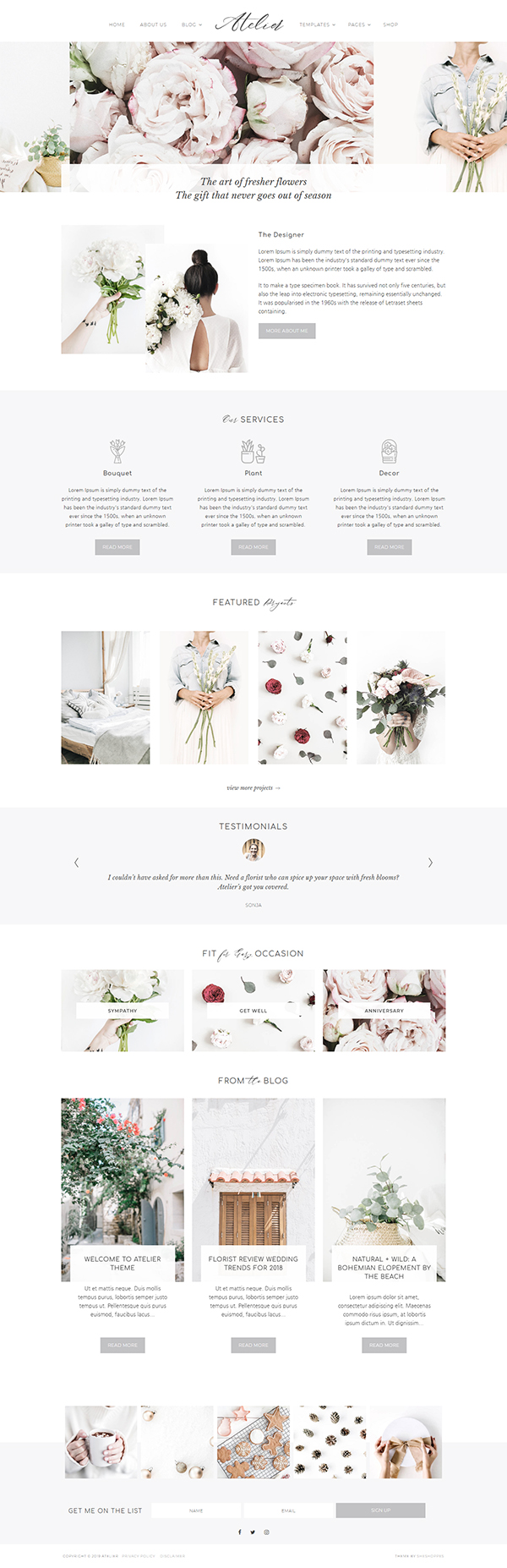 Atelier WordPress Theme