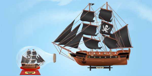 Create an attractive Pirate Ship