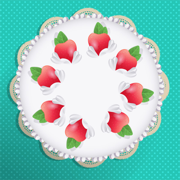 Rotated Cake Vector