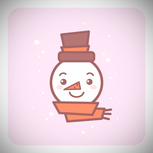 How to Draw a Cute Snowman Icon in Adobe Illustrator