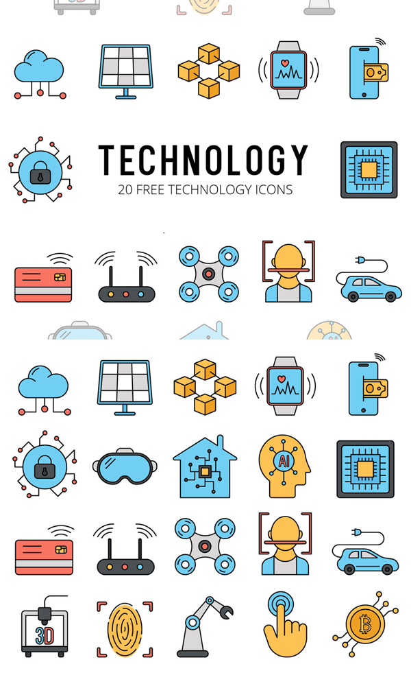Technology Vector Free Icon Set