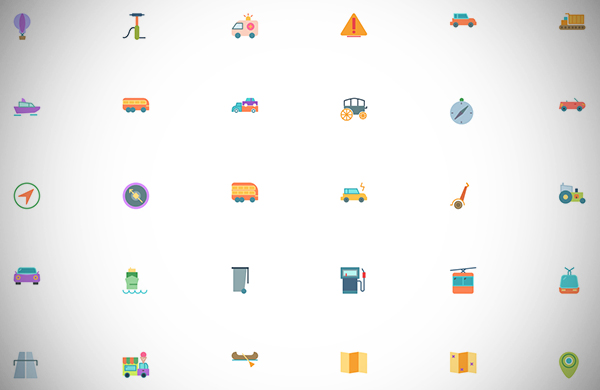 Free Transport Icon Collection