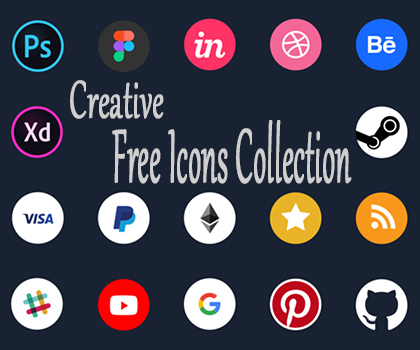 Freebie : Creative Free Icons Collection For Designers