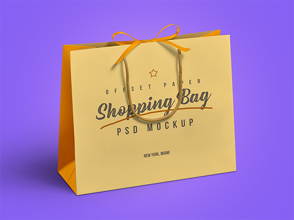 Free Grocery Shopping Bag Mockup PSD