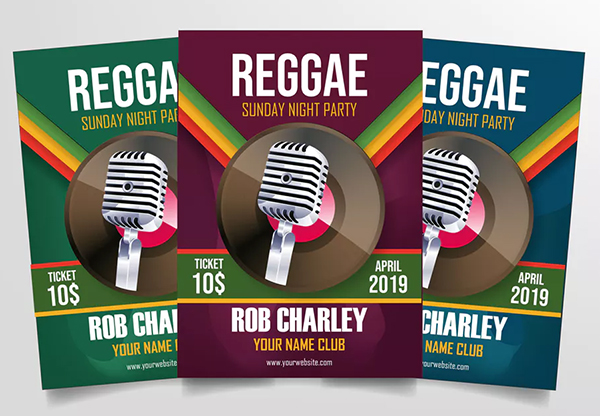Reggae Night Party Flyer Template