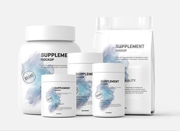 Supplement /Protein Jar Label Mockup