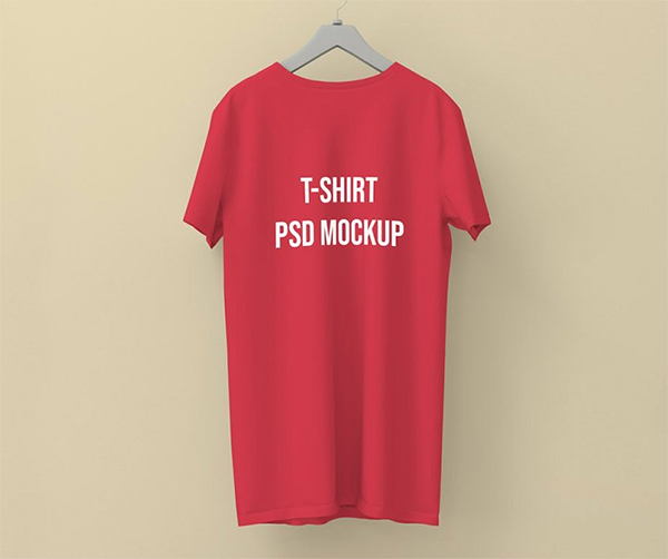Round Neck T-shirt Editable Mockup