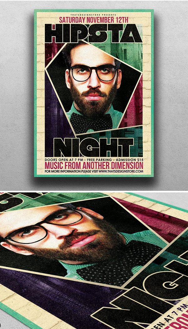 Hipsta Night Flyer Template