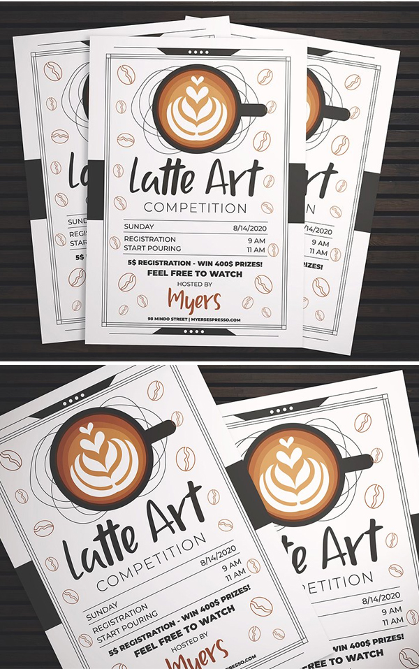 Latte Art Competition Flyer
