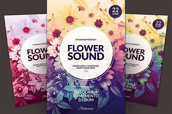 Flower Sound Flyer