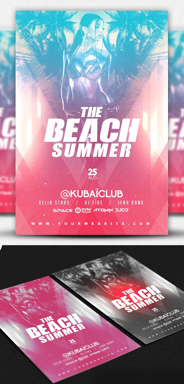 The Beach Summer Flyer Template