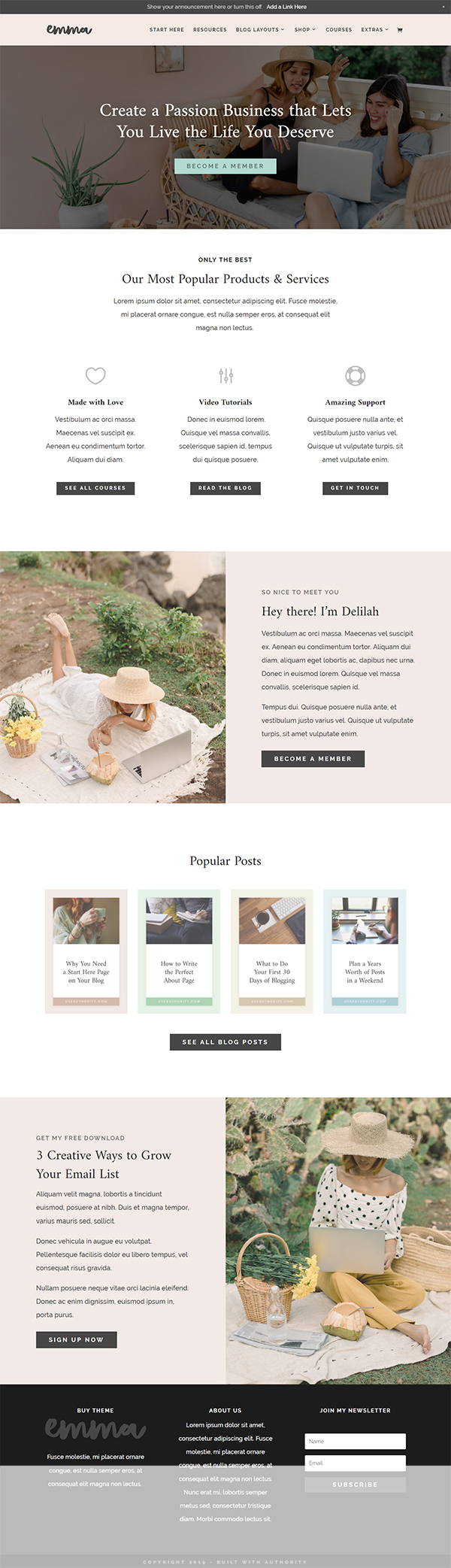Emma - WordPress Theme Blog