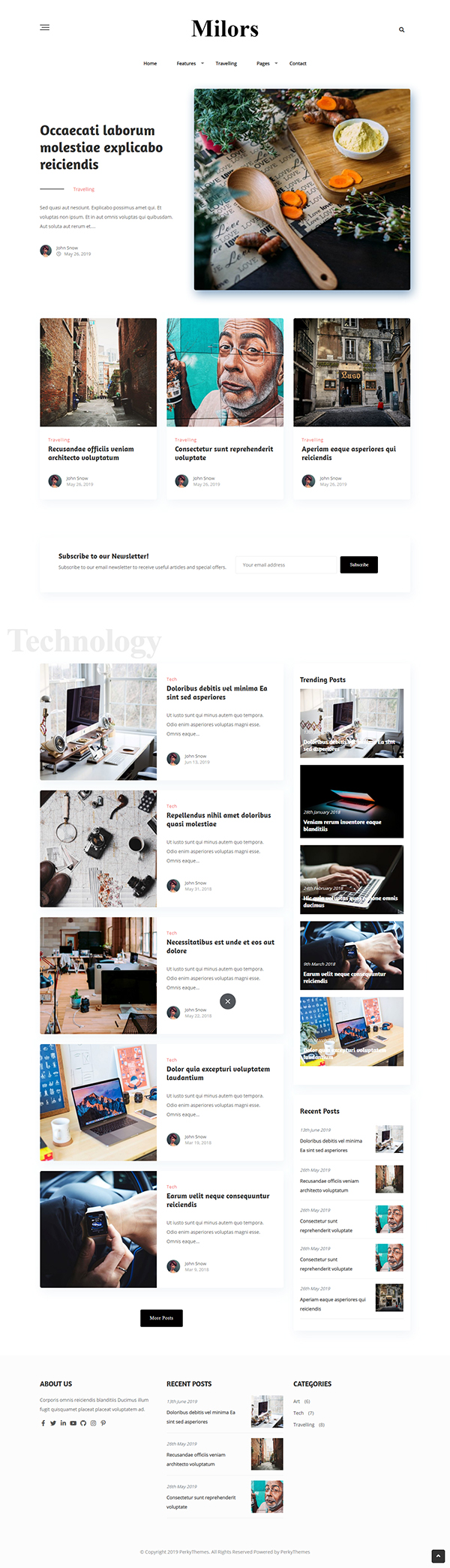 Milors - Elegant WordPress Blog Them