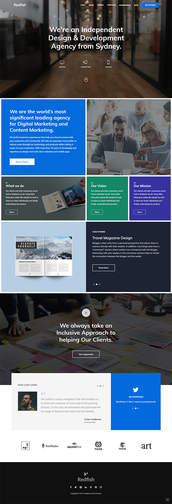 Redfish - A Modern Portfolio and Business Theme