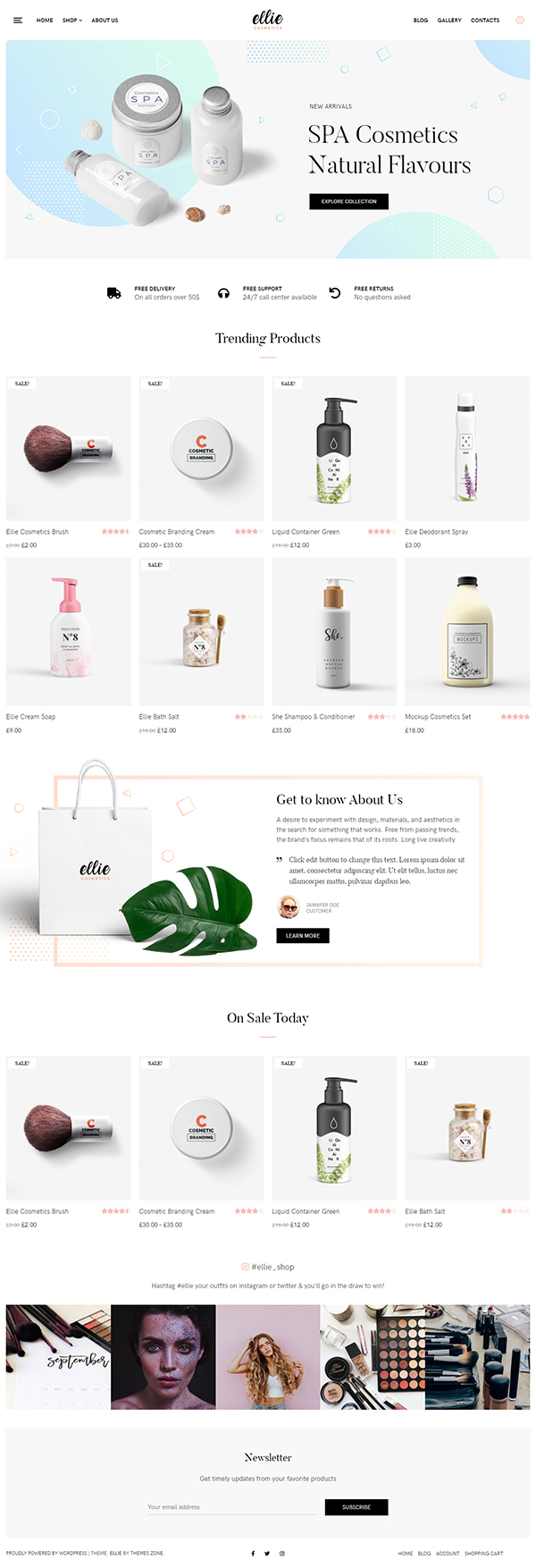 Ellie PRO - Cosmetic WordPress Theme