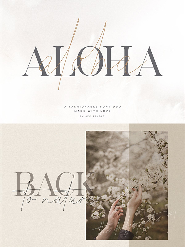 Aloha - Fashion Duo Font