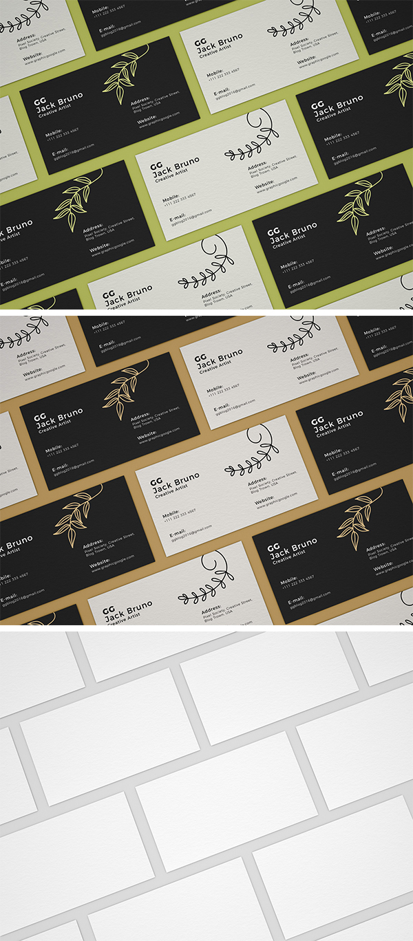 Free Business Card Mockup For Branding
