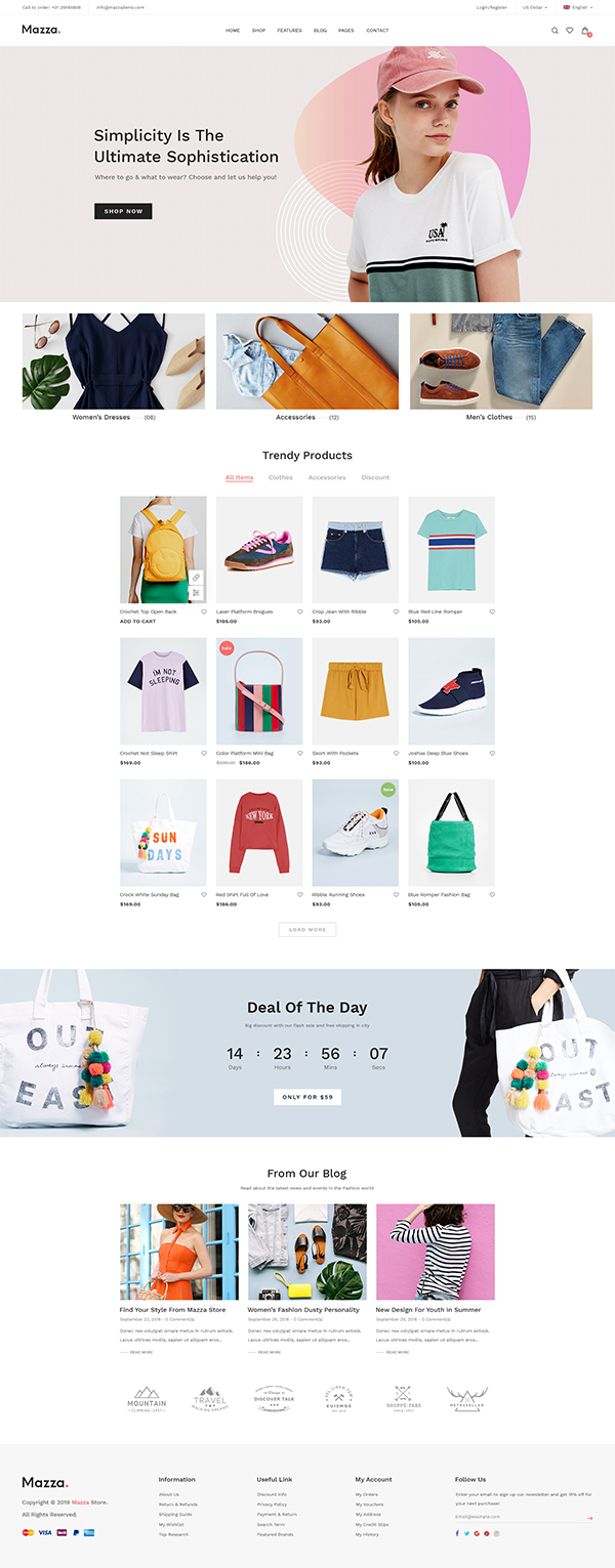 Mazza - Multi-purpose Creative WooCommerce Theme