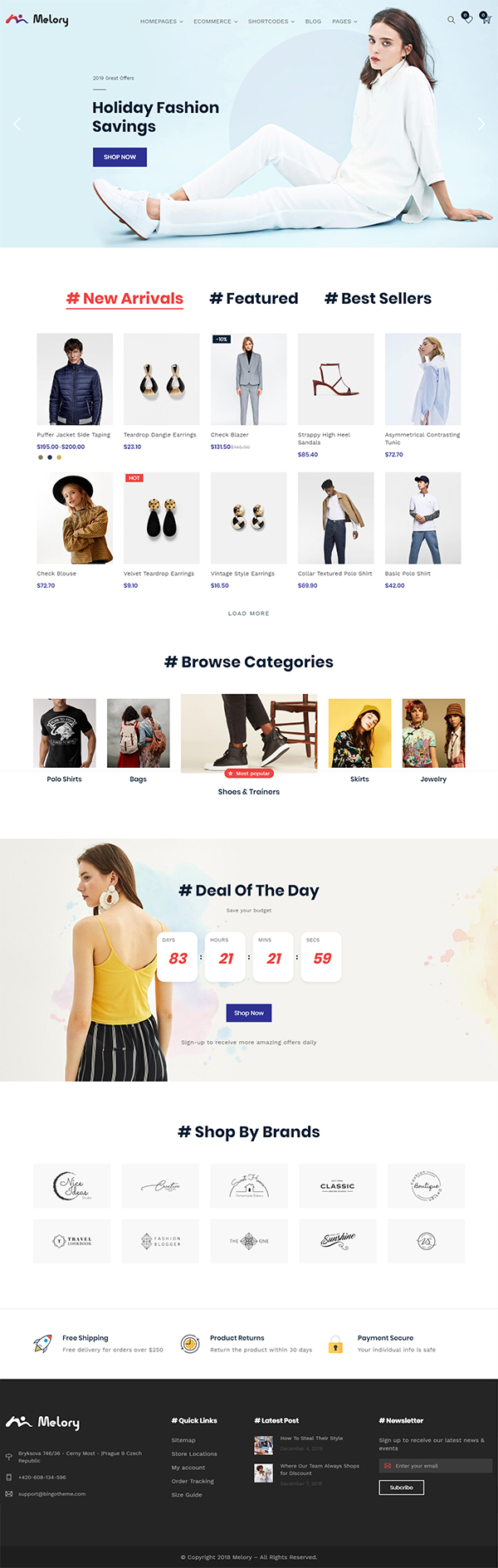 Melory - Modern Fashion WooCommerce Theme