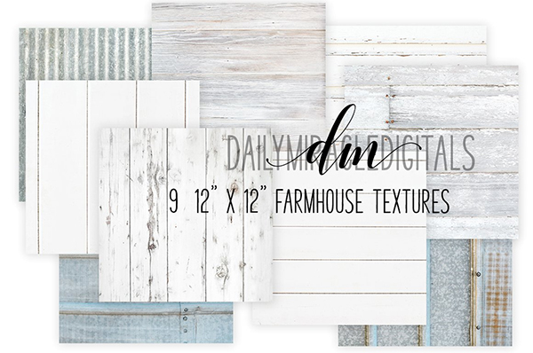 Farmhouse Texture Digital Papers