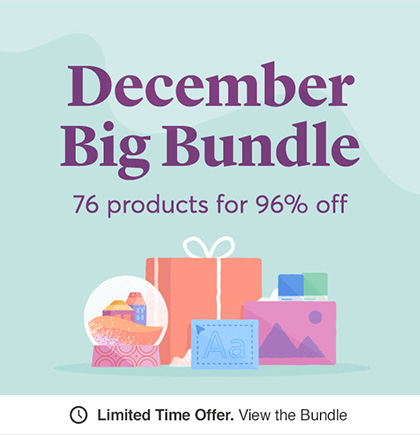 Cool December Big Bundle For Designers (76 Creative Items)