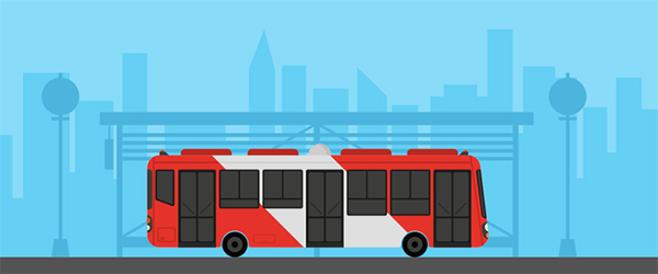 Illustration: Create a Flat Style Bus